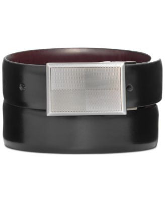 Ryan Seacrest Distinction 32mm Calf Plaque Reversible Belt, Only at Vogily