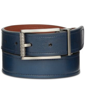 Ryan Seacrest Distinction 32mm Vachetta-Leather Reversible Belt, Only at Vogily