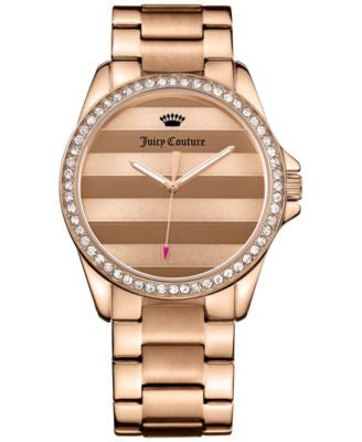 Juicy Couture Women's Laguna Rose Gold-Tone Stainless Steel Bracelet Watch 40mm 1901290