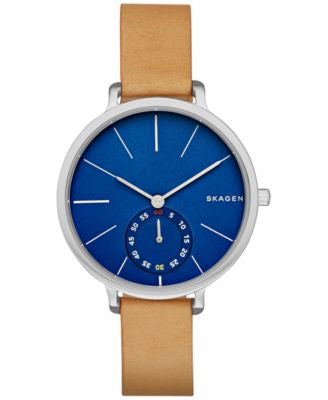 Skagen Women's Hagen Light Brown Leather Strap Watch 34mm SKW2355