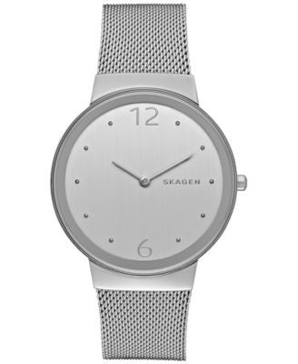 Skagen Women's Freja Stainless Steel Mesh Bracelet Watch 34mm SKW2380