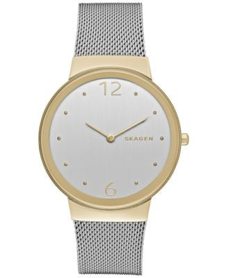 Skagen Women's Freja Stainless Steel Mesh Bracelet Watch 34mm SKW2381