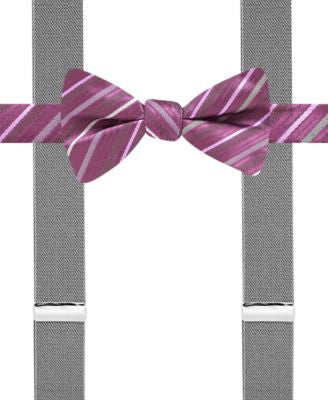 Alfani Spectrum Bexley Stripe Pre-Tied Bow Tie & Suspender, Only at Vogily