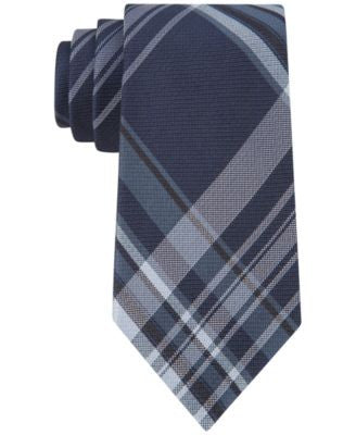 Calvin Klein University Plaid Slim Tie