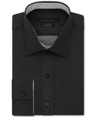 Sean John Men's Dot Print Classic-Fit Dress Shirt