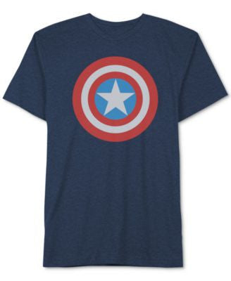 Jem Men's Marvel Captain America Shield T-Shirt