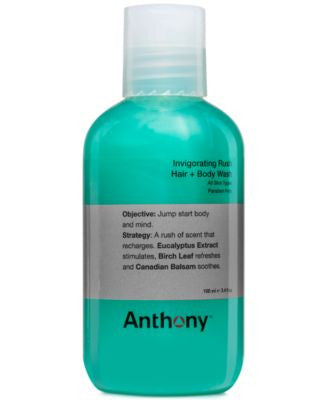 Anthony Invigorating Rush Hair & Body Wash, 3 oz