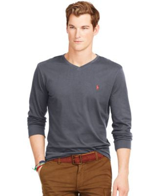 Polo Ralph Lauren Long-Sleeved Jersey V-Neck