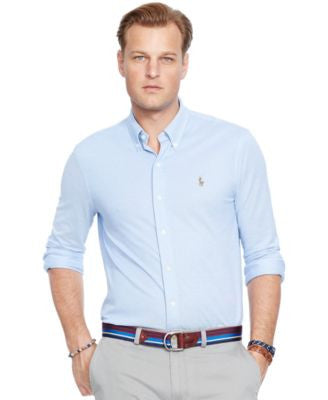 Polo Ralph Lauren Men's Big & Tall Knit Oxford Shirt