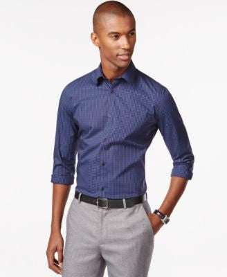 Calvin Klein Men's Infinite Cool Non-Iron Slim-Fit Shirt