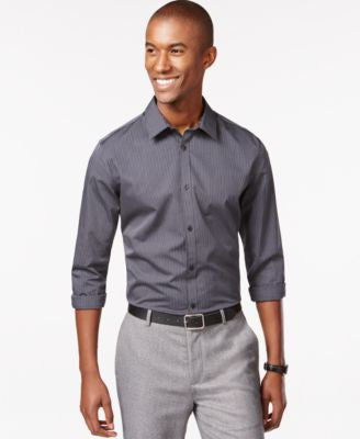 Calvin Klein Men's Infinite Cool Thin Stripe Shirt