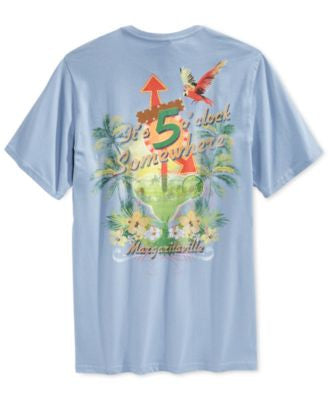Tasso Elba Big and Tall 5 O'Clock Somewhere Graphic-Print T-Shirt, Only at Vogily