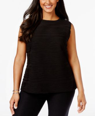 Calvin Klein Plus Size Sleeveless Ribbed Textured Top