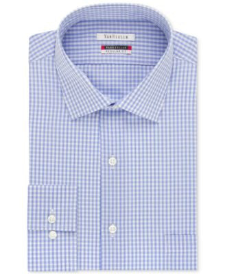 Van Heusen Men's Classic-Fit Wrinkle Free Flex Collar Check Dress Shirt