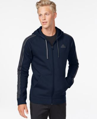 adidas Big and Tall Essentials Cotton Fleece Full-Zip Hoodie