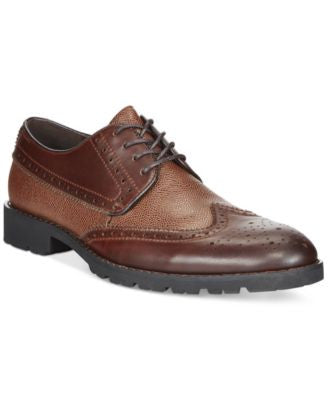Bar III Brett Mixed Media Leather Oxfords, Only at Vogily