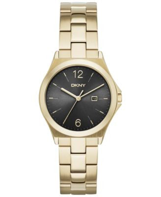 DKNY Women's Parsons Gold-Tone Stainless Steel Bracelet Watch 34mm NY2366
