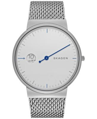 Skagen Men's Ancher Mono Stainless Steel Mesh Bracelet Watch 40mm SKW6193