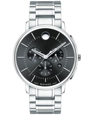 Movado Men's Swiss Chronograph Movado TC Stainless Steel Bracelet Watch 42mm 0606886