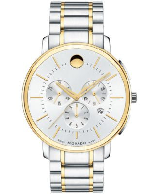 Movado Men's Swiss Chronograph Movado TC Two-Tone Stainless Steel Bracelet Watch 42mm 0606887