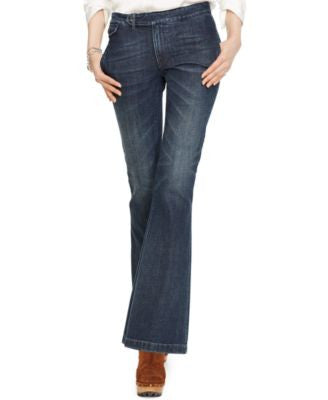 Polo Ralph Lauren Flared Denim Trousers, Kaylin Wash