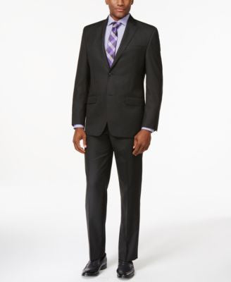 Sean John Classic-Fit Black Stripe Suit Separates