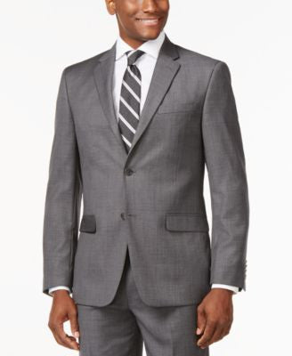 Tommy Hilfiger Slim-Fit Solid Grey Jacket