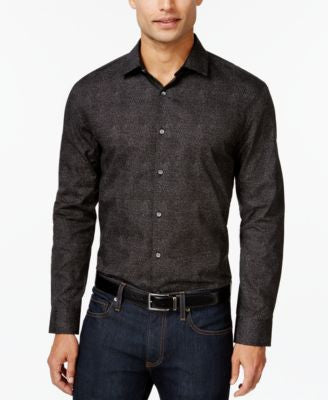 Alfani Men's Big and Tall Printed Shirt, Only at Vogily