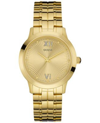 GUESS Women's Gold-Tone Stainless Steel Bracelet Watch 38mm U0634L2
