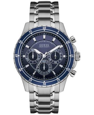 GUESS Men's Chronograph Stainless Steel Bracelet Watch 48mm U0676G2