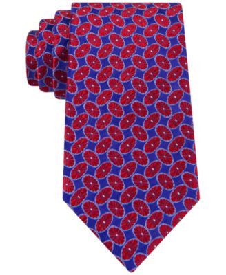 Peter Thomas Tossed Floral Oval Tie