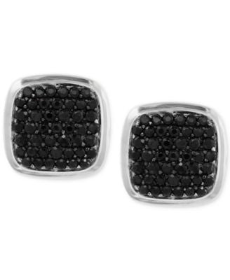 EFFY Black Sapphire Cuff Links (1-9/10 ct. t.w.) in Sterling Silver