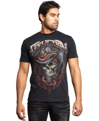 Affliction Men's Black Tooth T-Shirt