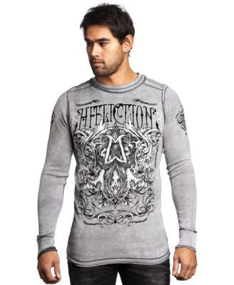 Affliction Men's Reversible Cast Into Thermal