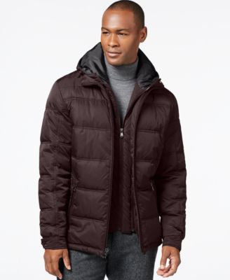 Perry Ellis Hooded Zip-Front Jacket