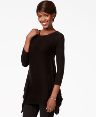 Bar III Asymmetrical Snit Top, Only at Vogily