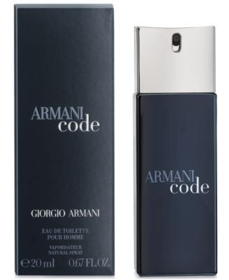 Armani Code Eau de Toilette Travel Spray, 0.67oz