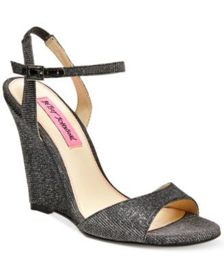Betsey Johnson Duane Wedge Sandals