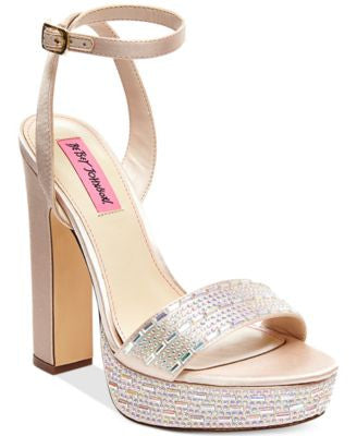 Betsey Johnson Alliie Platform Evening Sandals
