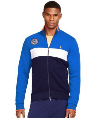 Polo Ralph Lauren US Open Color-Blocked Fleece Track Jacket