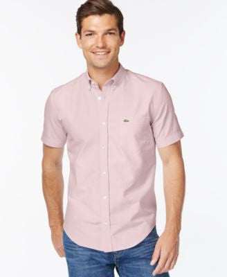 Lacoste Core Woven Short-Sleeve Button-Down Shirt