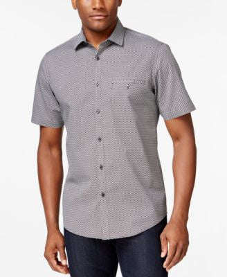 Alfani Short-Sleeve Printed Shirt, Only at Vogily