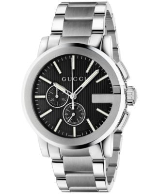 Gucci Men's Swiss Chronograph Stainless Steel Bracelet Watch 44mm YA101204
