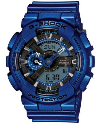 Baby-G Men's Analog-Digital Metallic Blue Bracelet Watch 55x51mm GA110NM-2A
