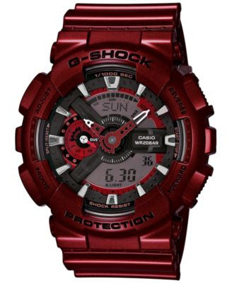 G-Shock Men's Analog-Digital Metallic Red Bracelet Watch 55x51mm GA110NM-4A