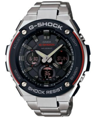 G-Shock Men's Analog-Digital Stainless Steel Bracelet Watch 52x60mm GSTS100D-1A4