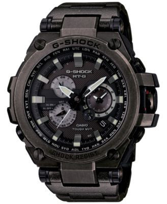 G-Shock Men's Black Ion-Plated Stainless Steel Bracelet Watch 59x53mm MTGS1000V-1A