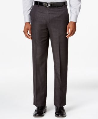 Sean John Black Tonal Plaid Classic-Fit Pants