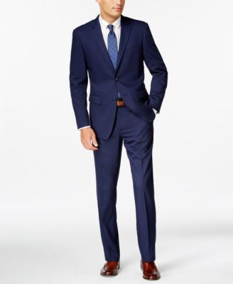 Perry Ellis Portfolio Blue Twill Slim-Fit Suit