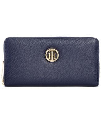 Tommy Hilfiger Lucky Charm Large Pebble Leather Zip Around Wallet